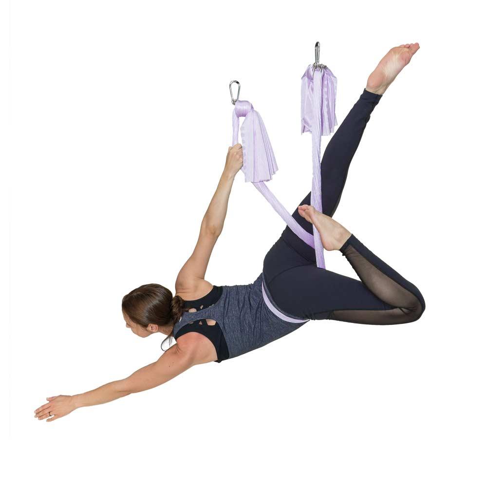 Omni Stretchy Hammock - Lavender - Stretchy Yoga Hammock Omni Gym Yoga Swings, Trapeze & Stand
