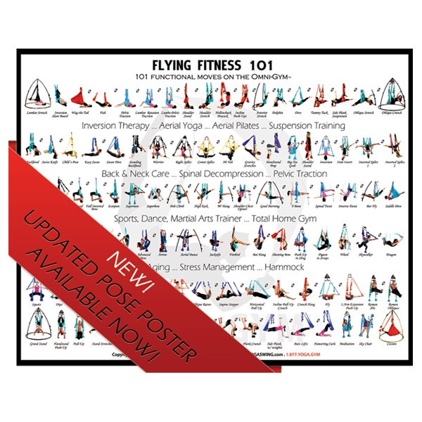 101 Yoga Positions Poster - Flying Aerial Fitness