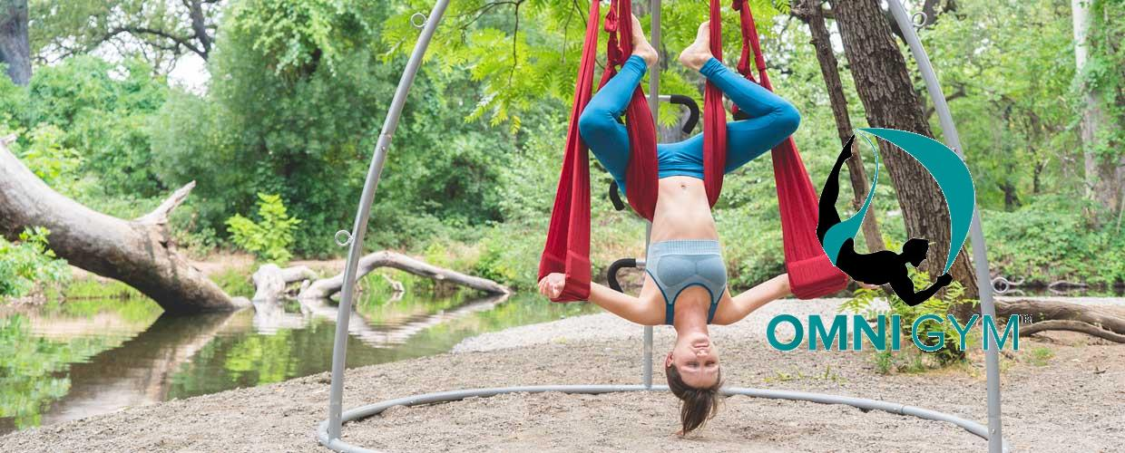 Yoga Swing with Stand - inversion