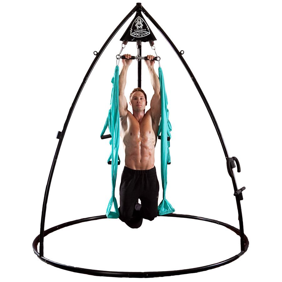 omni stand   trapeze system pull ups the works   the ultimate aerial yoga bundle   yoga swings trapeze      rh   yogaswings