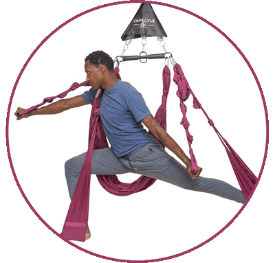Aerial Yoga Swing with Trapeze by Omni Gym