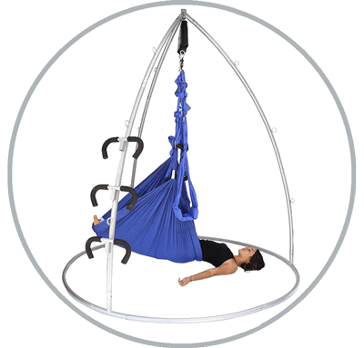 Aerial Yoga Swing with Trapeze and Stand by Omni Gym